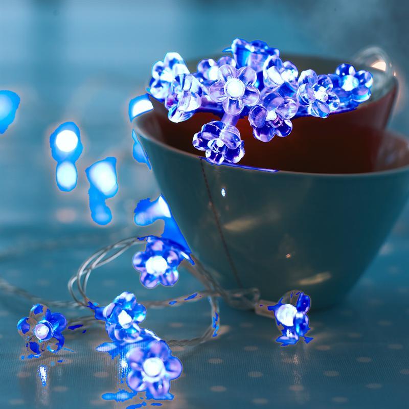 Sirius - Annie lyskæde - 50 blå pærer og transparent ledning - 6,6W/24V